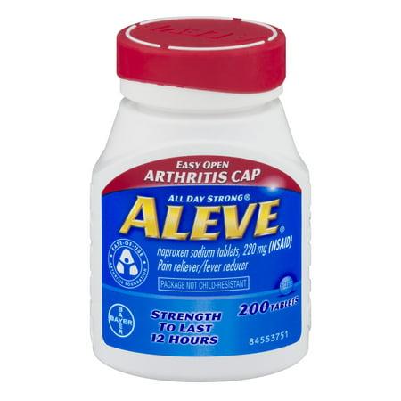 Aleve Analgésique / Fièvre Réducteur Naproxen Comprimés de sodium, 220 mg, 200 count
