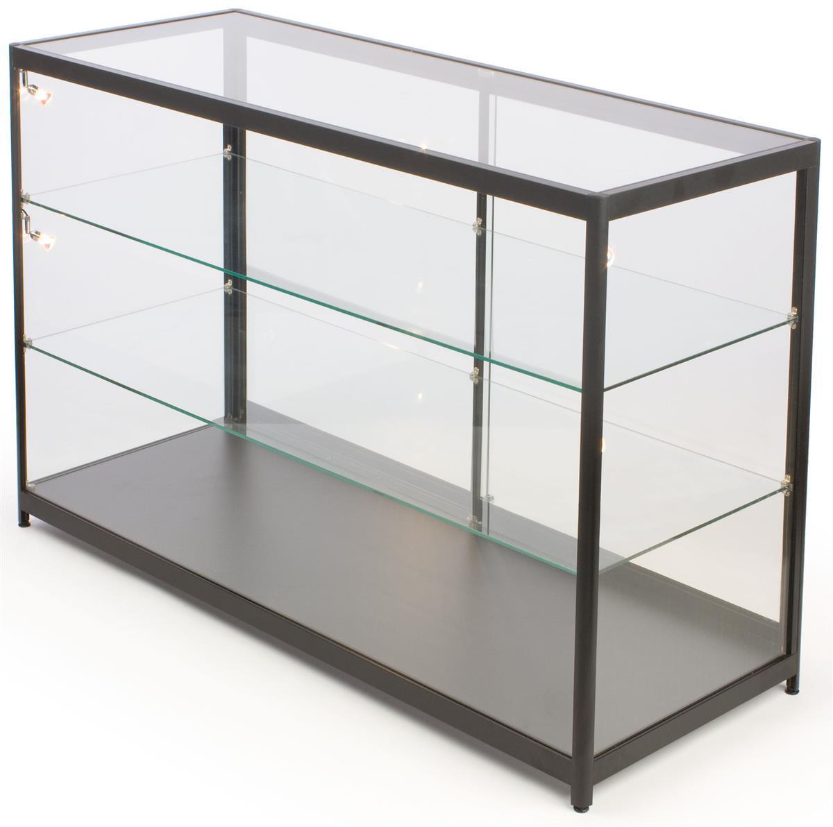 Displays2go Free-Standing Glass Display Case, 60 x 38 x 2...