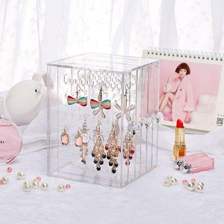 OCDAY Transparent Women Jewelry Display Shelf Practical Desktop Earrings Holder Rack - image 2 of 10