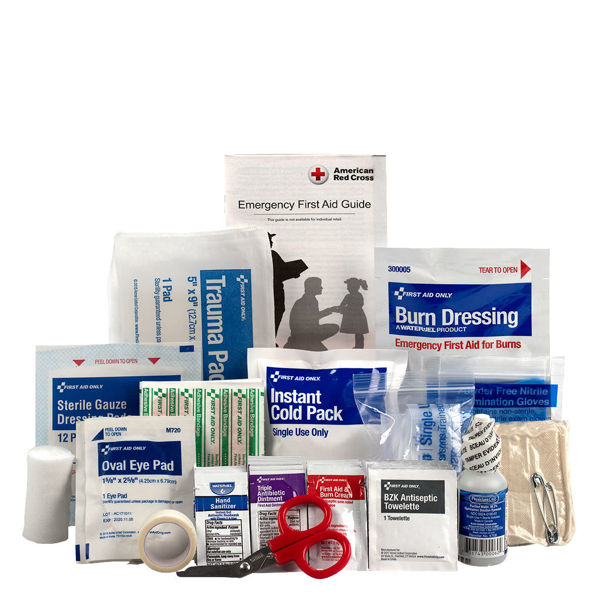 First Aid Only 71 Piece 10 Person ANSI A Bulk Refill Kit