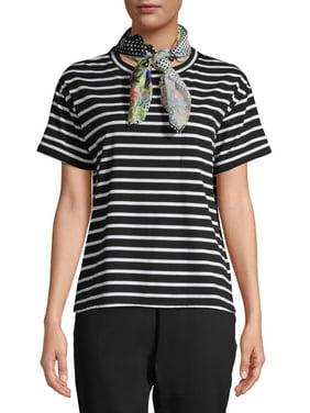 Women's T-Shirt with Detachable Bandana