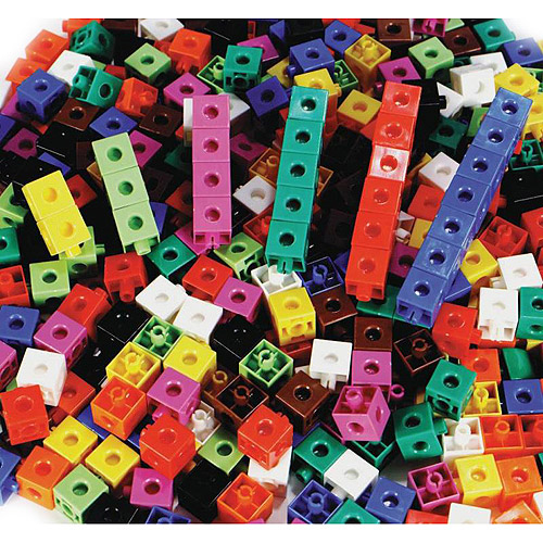 "Childcraft Linking Cubes, 0.75"", Assorted Colors, Set of 100"