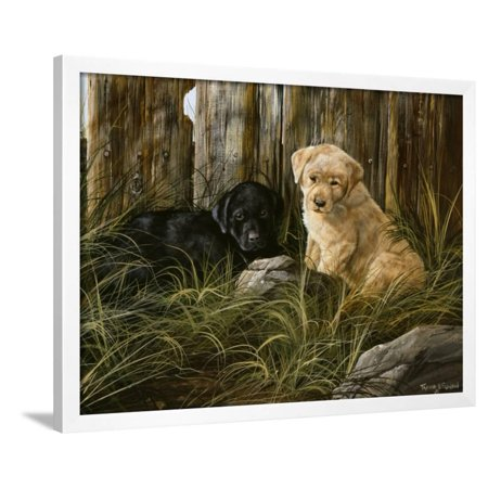 Lab Pup Pair Framed Print Wall Art By Trevor V. Swanson ()