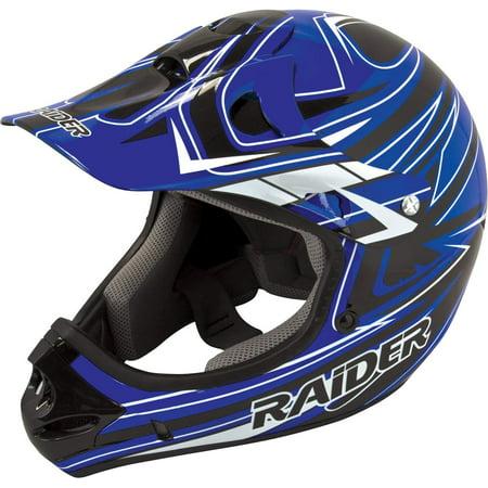 Raiders Helmet (Raider Adult Rush MX Helmet Black/Blue)