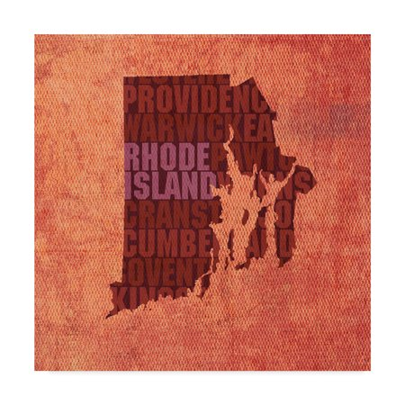 Trademark Fine Art 'Rhode Island State Words' Canvas Art by Red Atlas Designs
