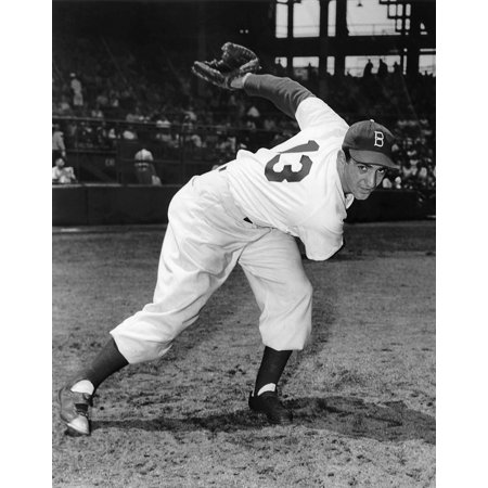 Ralph Branca (1926- ) Namerican Baseball Pitcher Photographed During The 1951 Season As A Member Of The Brooklyn Dodgers Rolled Canvas Art -  (24 x 36) 1951 Brooklyn Dodgers