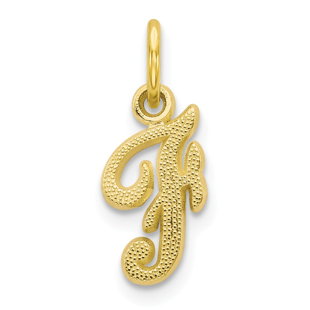 10k Yellow Gold Initial F Pendant