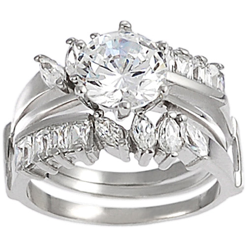 Alexandria Collection CZ Bridal Set in Sterling Silver