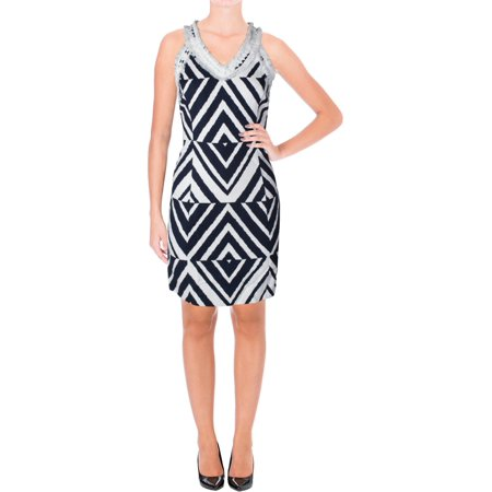 Taylor Womens Chevron Print Textured Casual Dress for $<!---->