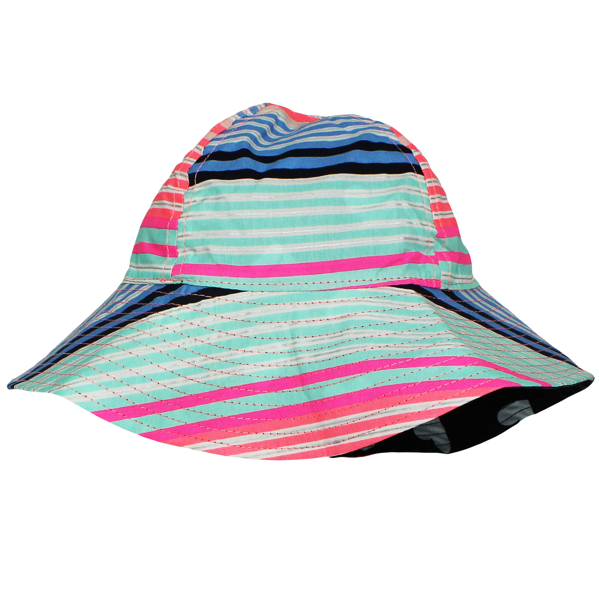 2T-4T OshKosh BGosh Little Girls Reversible Zebra Print Bucket Hat