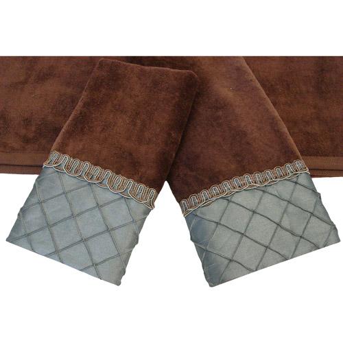 Sherry Kline Pleated Diamond 3-Piece Decorative Towel Set