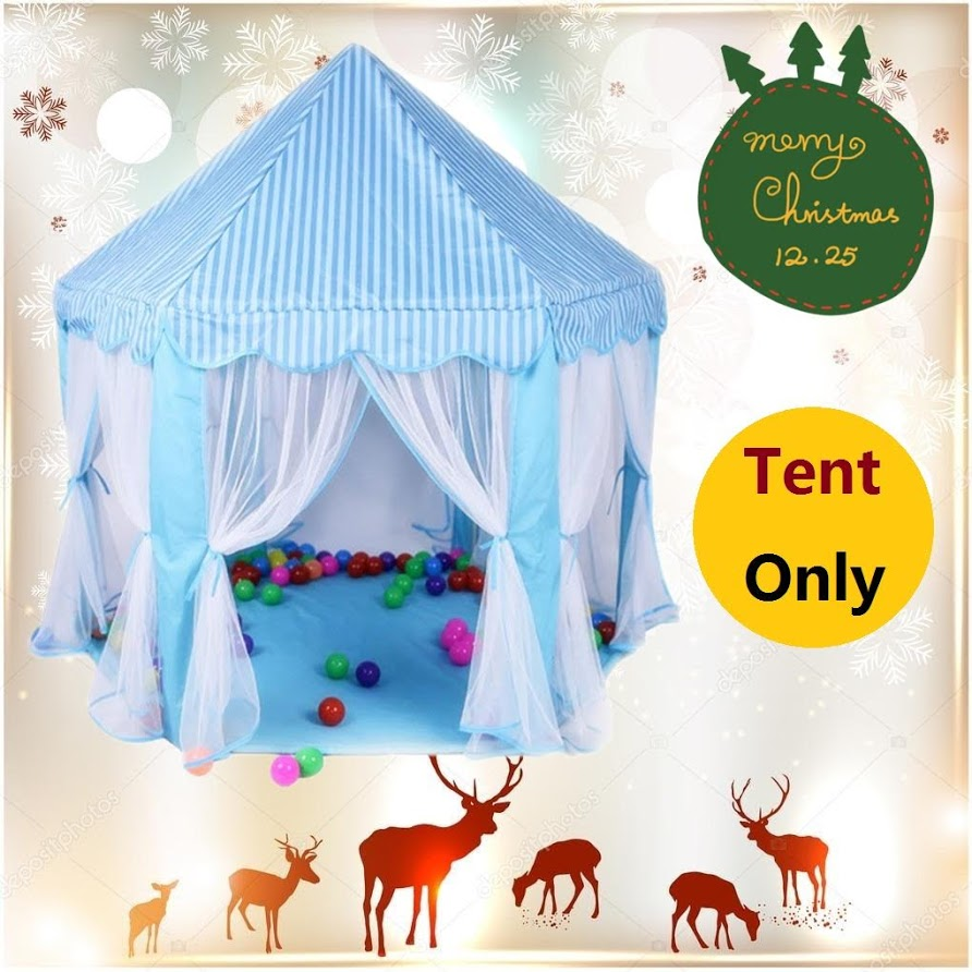 Princess Castle Play Tents for Girls - Pop Up Children Play Tent for Indoor & Outdoor Use Beautiful Playland Playhouse Tent w/ Zipper Storage Case