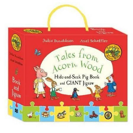 Tales from Acorn Wood: Hide-and-seek Pig Book and Jigsaw Set - Pig From Saw