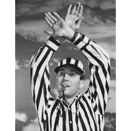 Referee Time Out (Football referee giving a time out signal Poster)