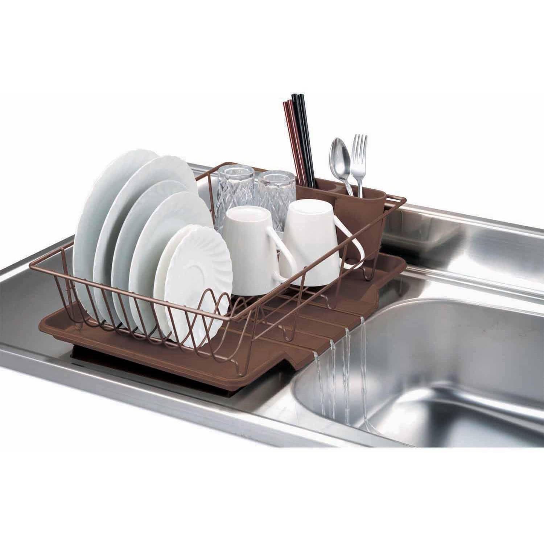Space Saving Dish Rack 2 Tier Dish Rack Chrome Stainless Steel Walmartcom