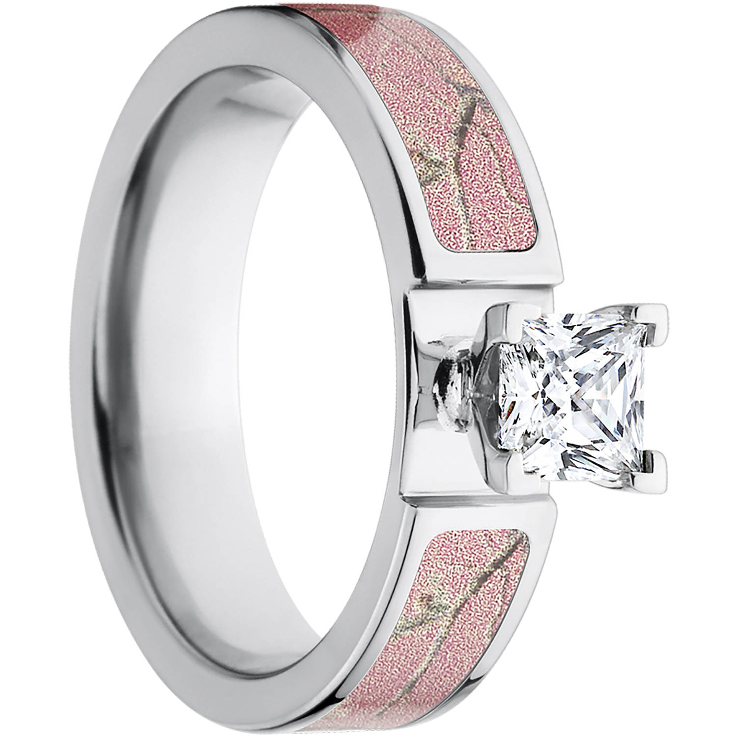 Realtree AP Pink Women s Camo 1 Carat T G W Princess CZ in 14kt
