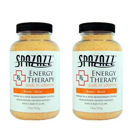 Spazazz Aromatherapy Spa and Bath Crystals- Energy Therapy (2 Pack)