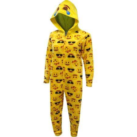LOL Emoji Hooded One Piece Pajama (Plus Size Onesie)