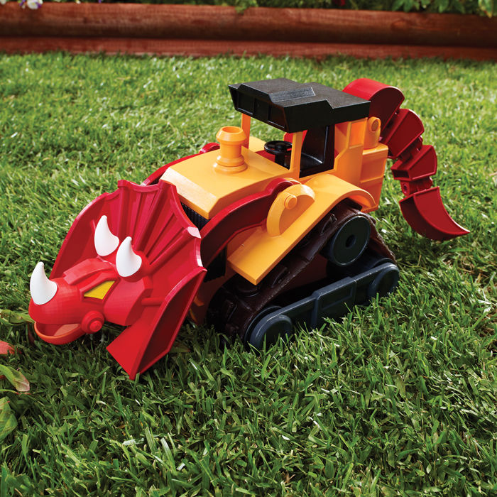 Educational Insights Dino Construction Company—T-Top the Triceratops Bulldozer