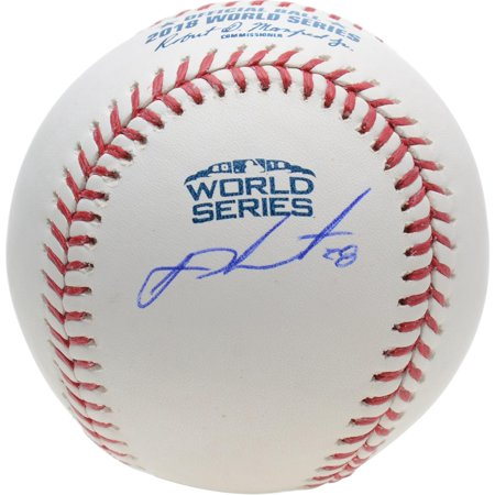 J.D. Martinez Boston Red Sox Autographed 2018 World Series Logo Baseball - Fanatics Authentic Certified