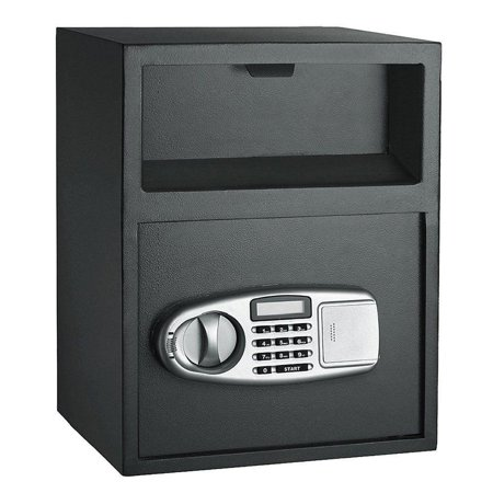 Ktaxon Home Office Digital Safe Box Depository Drop Deposit Front Load Cash Vault (Dual Compartment Drop Safe)
