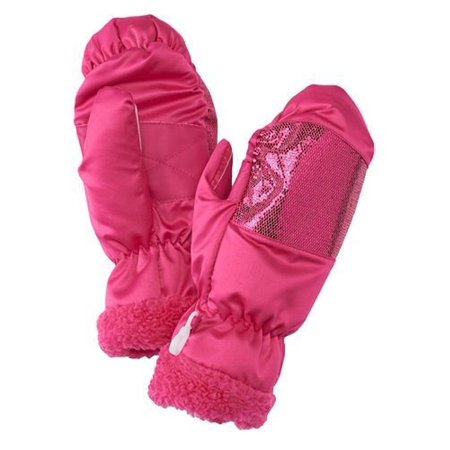 SO Girls Sherpa Trimmed Ski Mittens