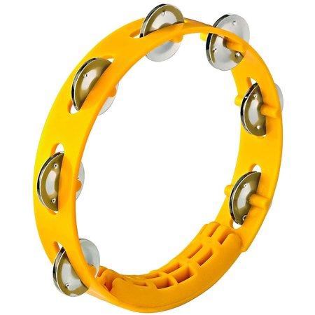 Nino Compact ABS Plastic Handheld Tambourine 8 in. Yellow