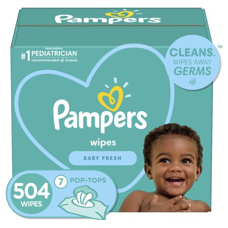 Pampers Fresh Baby Wipes - 504ct