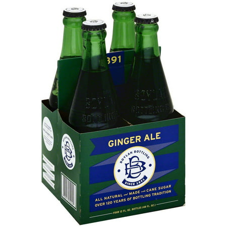 Boylan Ginger Ale Soda, 4-12 fl oz, (Pack of 6)