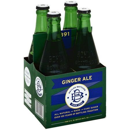 Boylan Ginger Ale Soda, 4-12 fl oz, (Pack of 6)