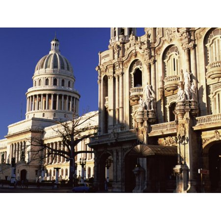 Capitolio Bathed in Early Morning Light, Havana, Cuba, West Indies Print Wall Art By Lee -