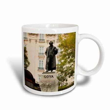 3dRose Spain, Madrid, Museo del Prado museum, Goya statue - EU27 WBI0550 - Walter Bibikow - Ceramic Mug,