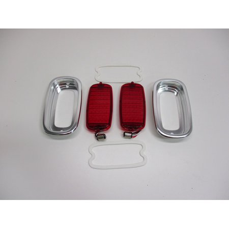 1960-1966 Chevy Truck Fleetside LED StopTurn Tail Lights, Bezels and Gaskets - Tail Light Bezel Set