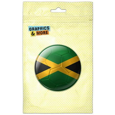Jamaica Flag Soccer Ball Futbol Football Pinback Button Pin Badge](Football Buttons)