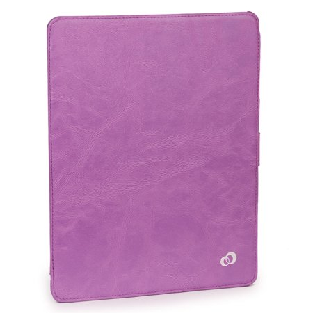 KroO Slim Portfolio Cover Case with Hard Shell for Apple iPad (2, 3, 4) | Purple