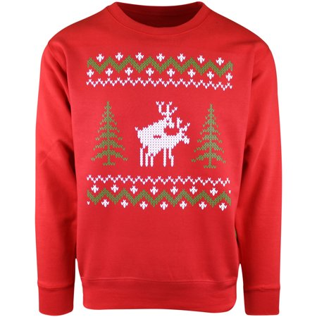 Mens Red Reindeers Doing It Ugly Christmas Crewneck Sweater](Red Ugly Christmas Sweater)