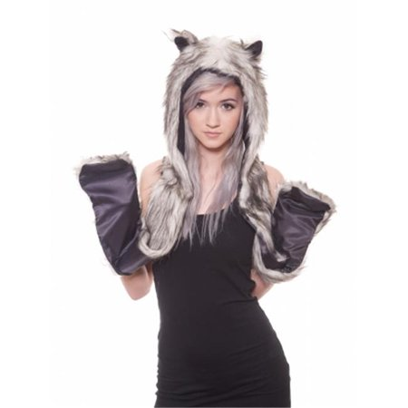 Faux Fur Black Wolf Animal Cosplay Costume Hoodie Halloween, One Size](Wolf Cosplay Costumes)
