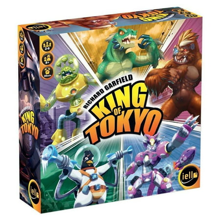 King of Tokyo 2Ed Fast Paced Strategy Updated Board Game IELLO 51314 - King Of Tokyo Halloween Expansion