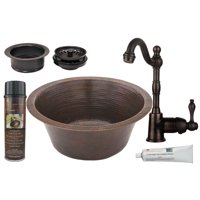 Premier Copper Products - BSP4_BR16DB3-G Bar/Prep Sink, Faucet and Accessories Package