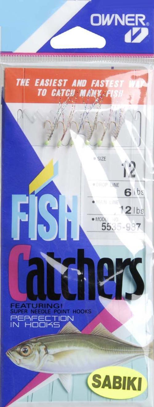Owner Sabiki Mackerel Fish Skin Hook, #12 Multi-Colored by OWNER AMERICAN CORP