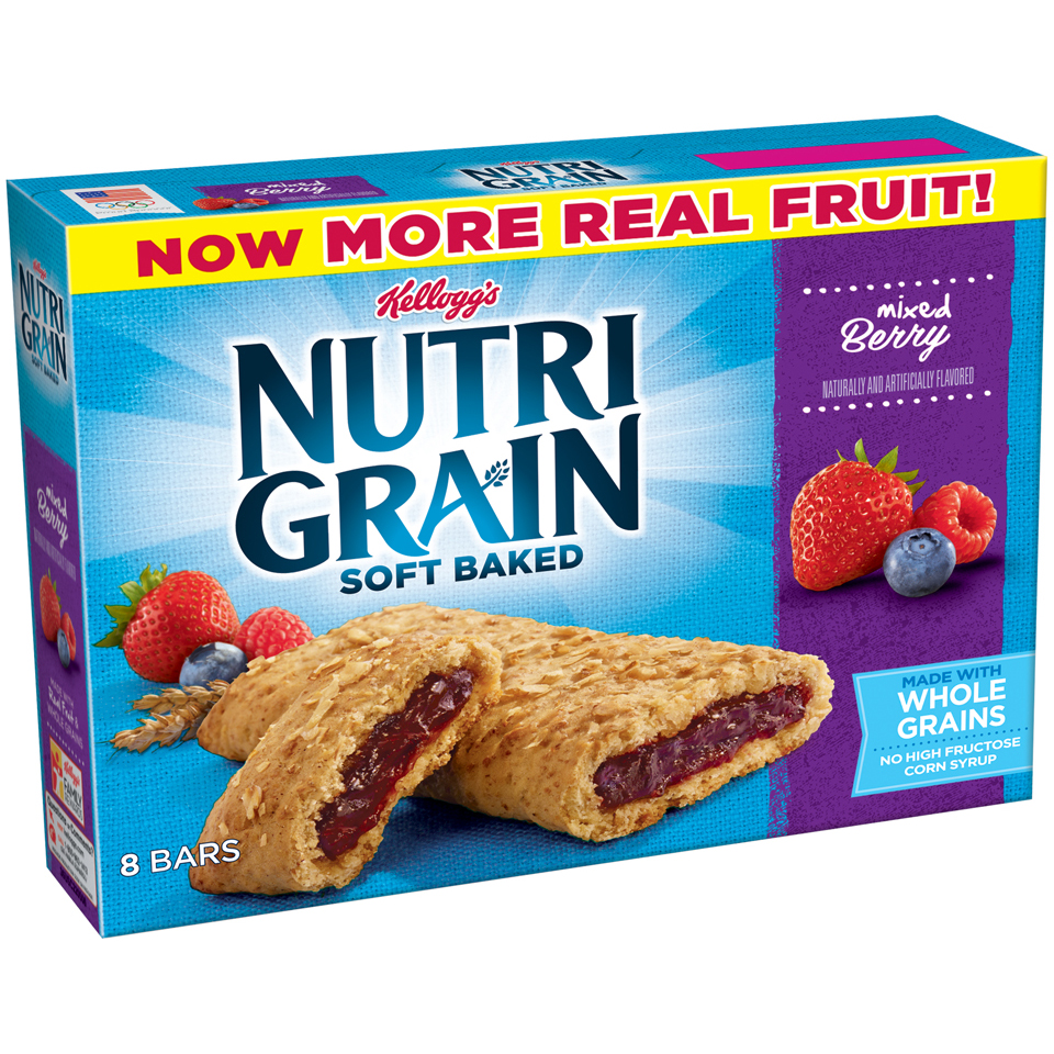 Kellogg's Nutri Grain, Mixed Berry Breakfast Bars, 1.3 Oz, 8 Ct