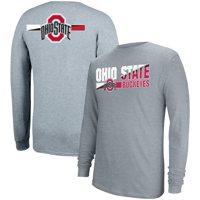 Men's Gray Ohio State Buckeyes Strikethru Long Sleeve T-Shirt