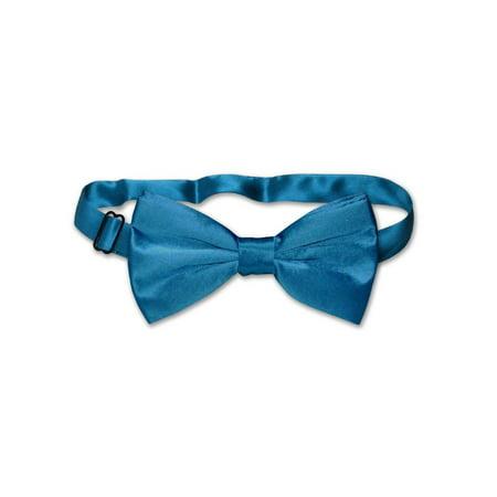 Blue Silk Suit - 100% SILK BOWTIE Solid BLUE Color Men's Bow Tie for Tuxedo or Suit