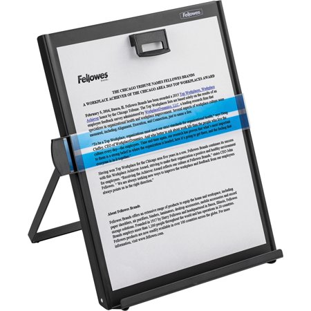 Fellowes, FEL11053, Metal Copyholder, 1, Black