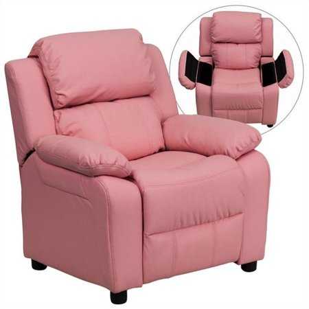 Bowery Hill Padded Kids Recliner in Pink - image 5 de 5