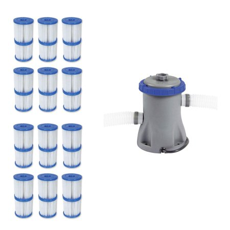 Type V/K 330 GPH Filter Cartridge (12 Pack) + Filter Pump System (Best Way To Remove Thc From Your System)