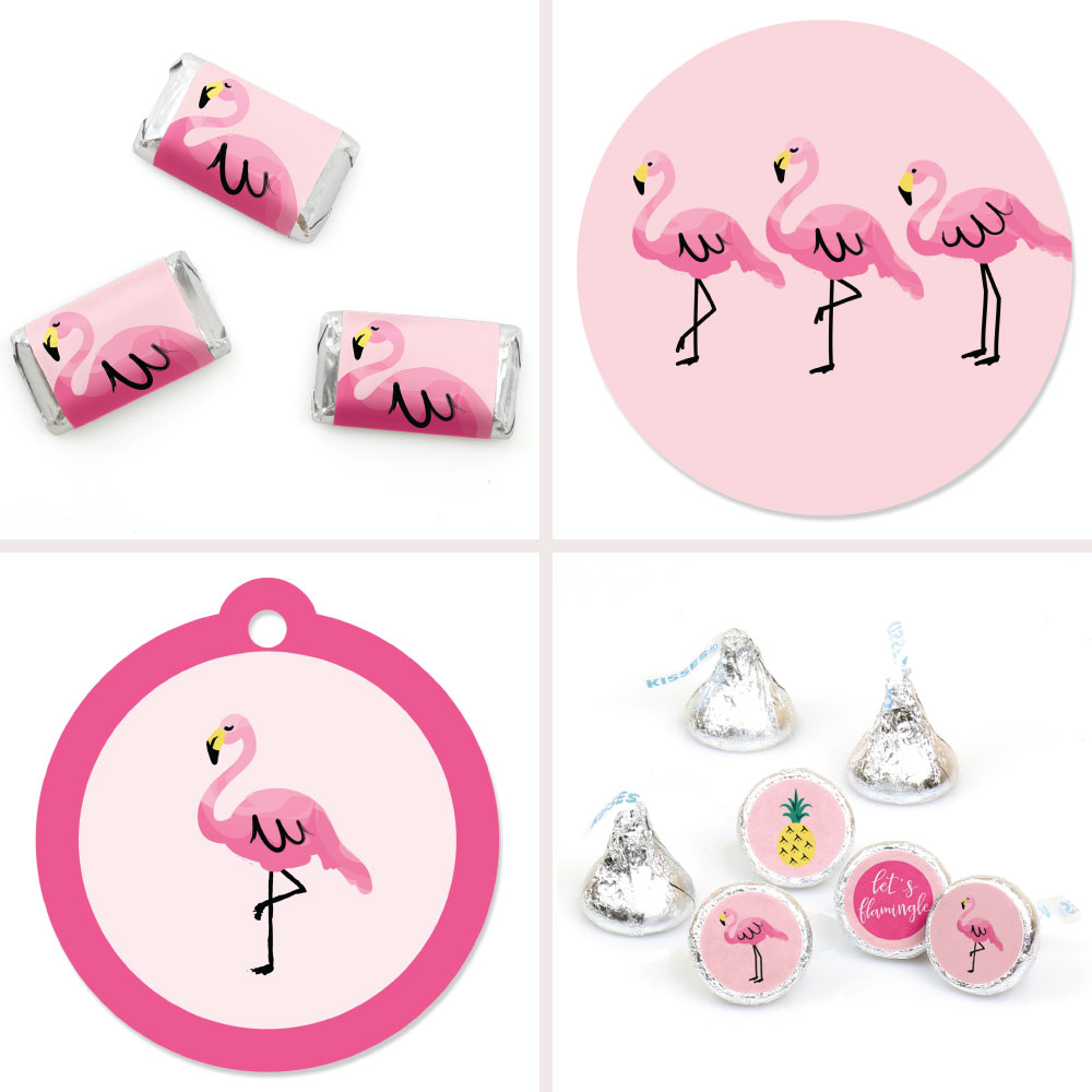 Flamingo - Party Like a Pineapple - Baby Shower or Birthday Party Decorations Favor Kit - Party Stickers & Tags -172 pcs