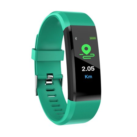 Smart Bracelet IP67 Waterproof Built-in with Blood Pressure/Heart Rate Monitor Calorie Counting Pedometer Watch for Android and iOS System Graphite Heart Rate Monitor