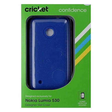 Cricket Designer Soft Gel Case for Nokia Lumia 530 - Blue (Nokia Lumia 530 Cricket)