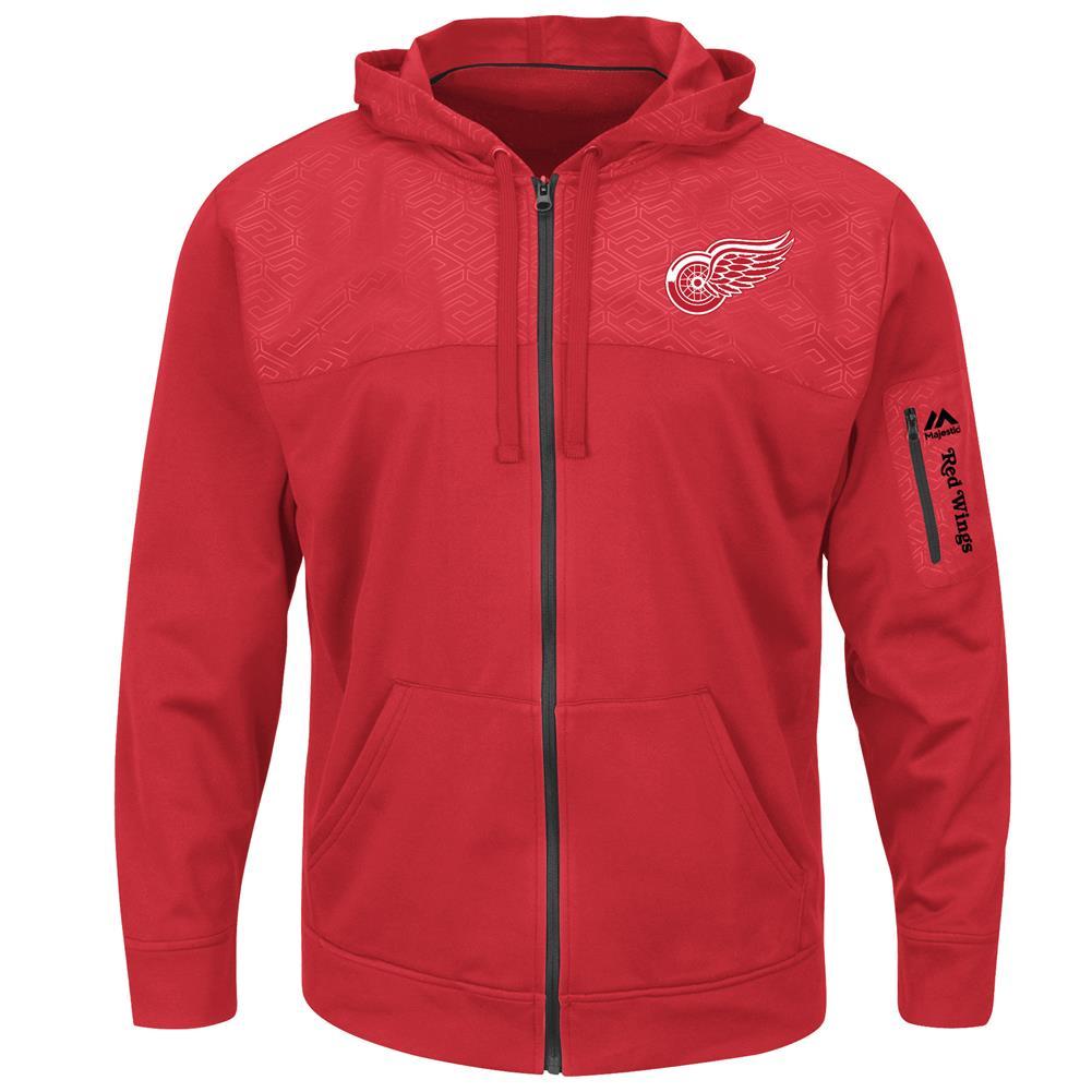 Synthetic Detroit Red Wings Jacket Full Zip Hooded Fleece by VF Imagewear